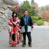 松本城にておもてなし隊 登久姫と